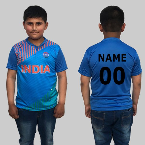 Kids Blue Cricket jersey